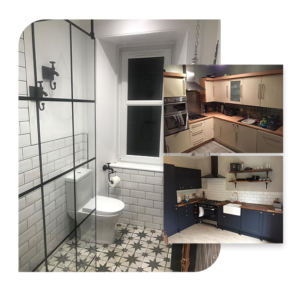 Kitchen and Bathroom Example